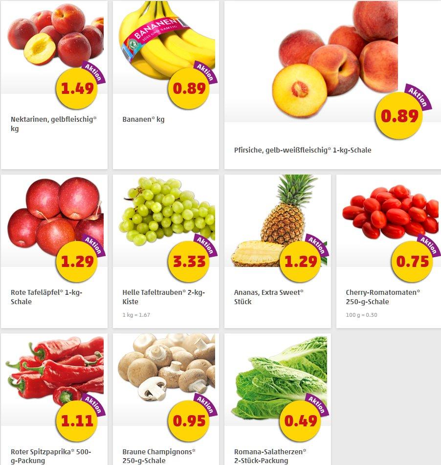 Obst und Gemüse bei [Penny] zB Ananas 1,29 oder Bananen 0,89/ kg
