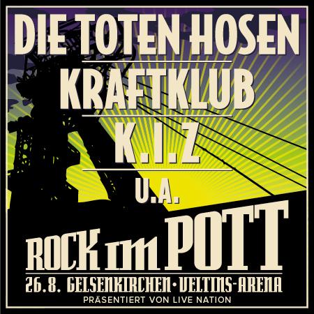 [26.08. Gelsenkirchen] Rock im Pott, 2 zum Preis von 1 als MagentaEINS Kunde der Telekom