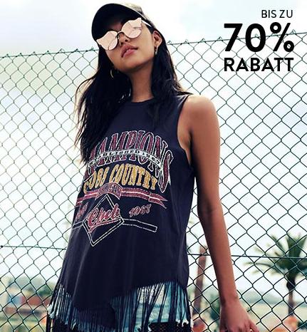 Bis zu 70% Rabatt im Sale jetzt mit 20% extra Rabatt bei Boohoo