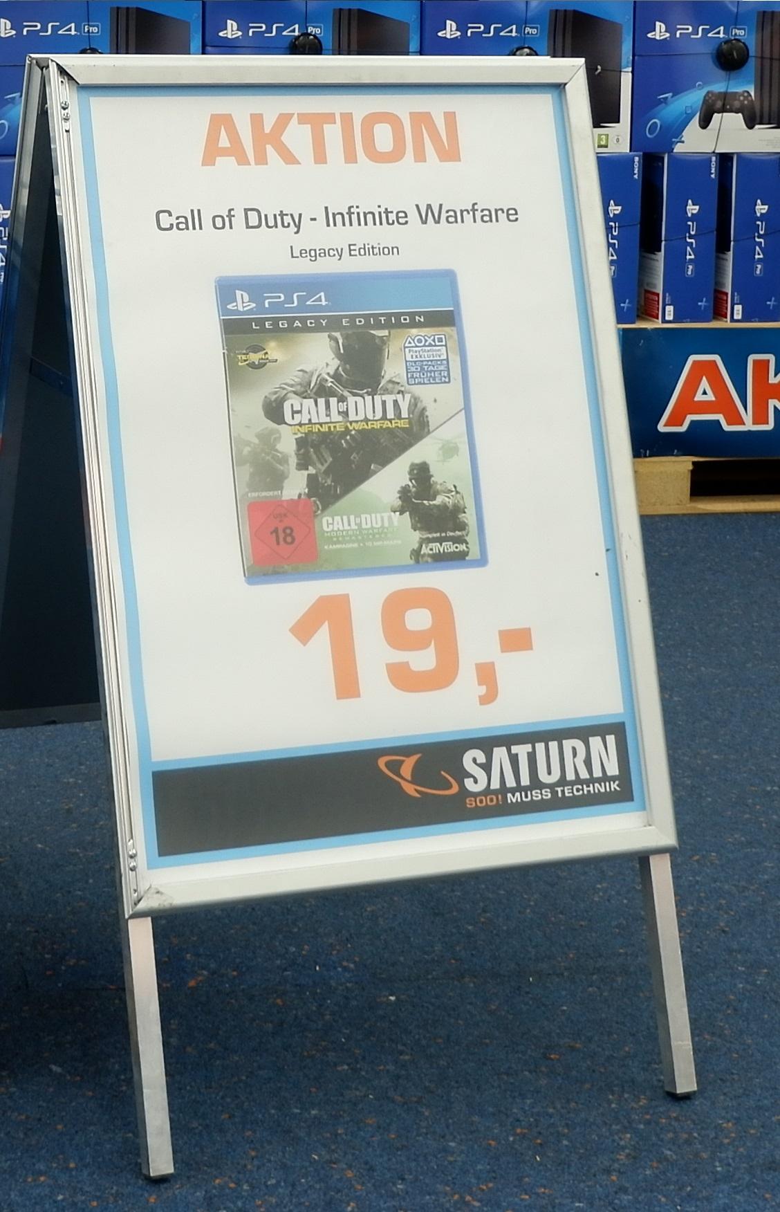 Saturn Hamburg COD Infinty Warfare Legacy Edition 17€ (LOKAL)