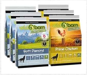 3x 500g Wildborn Prime Chicken Hundefutter + 3x 140g Soft Diamond + 500g Wildborn Wild Turkey