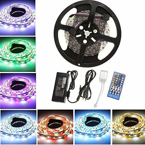 LED Stripes 5m SMD 5050 RGBW mit Netzteil und Fernbedienung [AMAZON Prime]