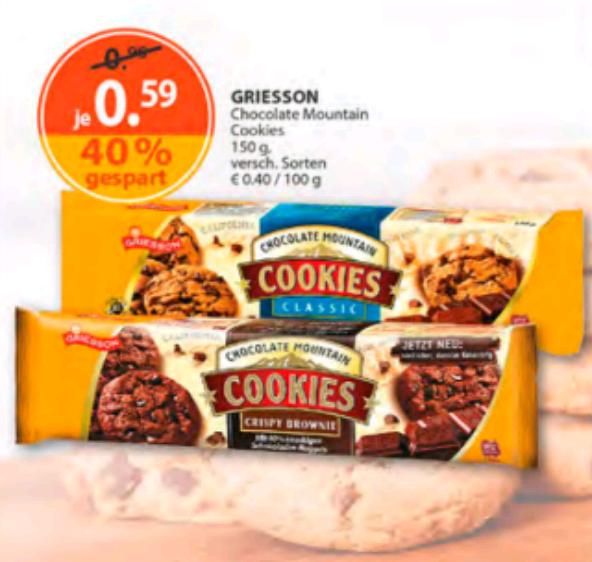 Drogerie Müller: Cookies mit 40% Rabatt statt für 0,96€ für 0,59€
