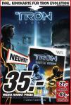 Mediamarkt Frankfurt (Nordwestzentrum): TRON Evolution: Battle Grids  (WII) + 3D Kinokarte Tron Legacy  für 35€