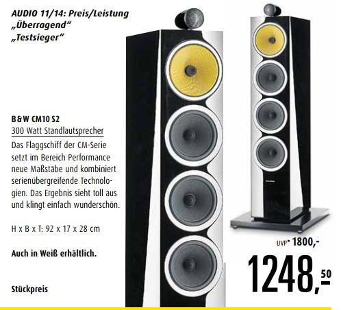 [Lokal FFM, Mainz, Wiesbaden] Bowers & Wilkins CM8/9/10 S2 Abverkauf bei den Hifi-Profis