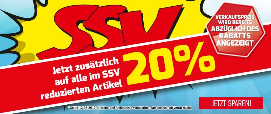 SSV + 20% Extra - HG setzt nochmal einen drauf!