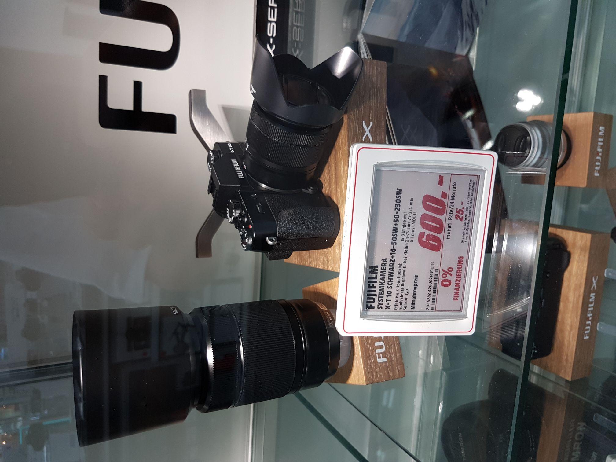 [Media Markt Berlin Tegel] Fujifilm X-T 10 Kit 16-50mm + 50-230mm