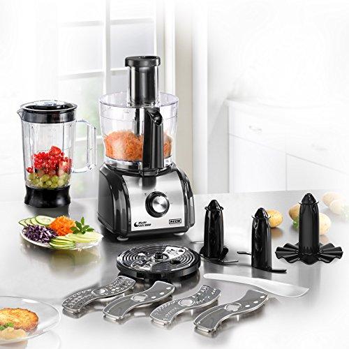 BEEM Multi-FiXX 1000 V3, Multifunktionale-Küchenmaschine mit hochwertigen Edelstahl-Applikationen, Edition Eckart Witzigmann, Edelstahl/Schwarz