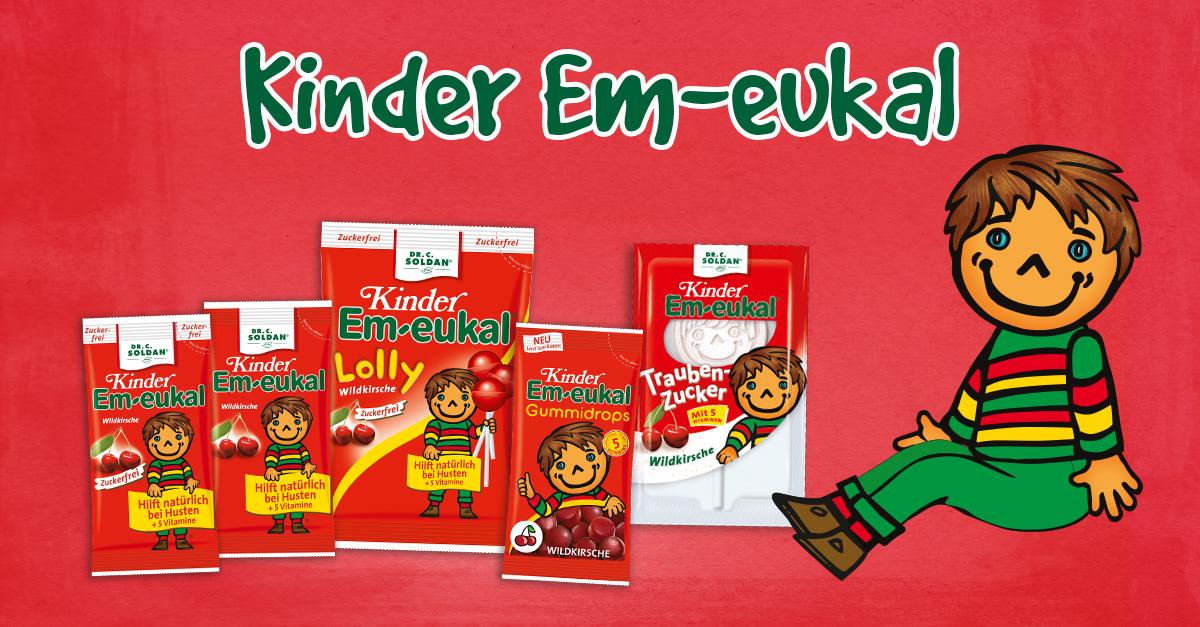 2 Packungen Kinder Em Eukal mit Aktionssticker kaufen - gratis Namensstickerset bekommen