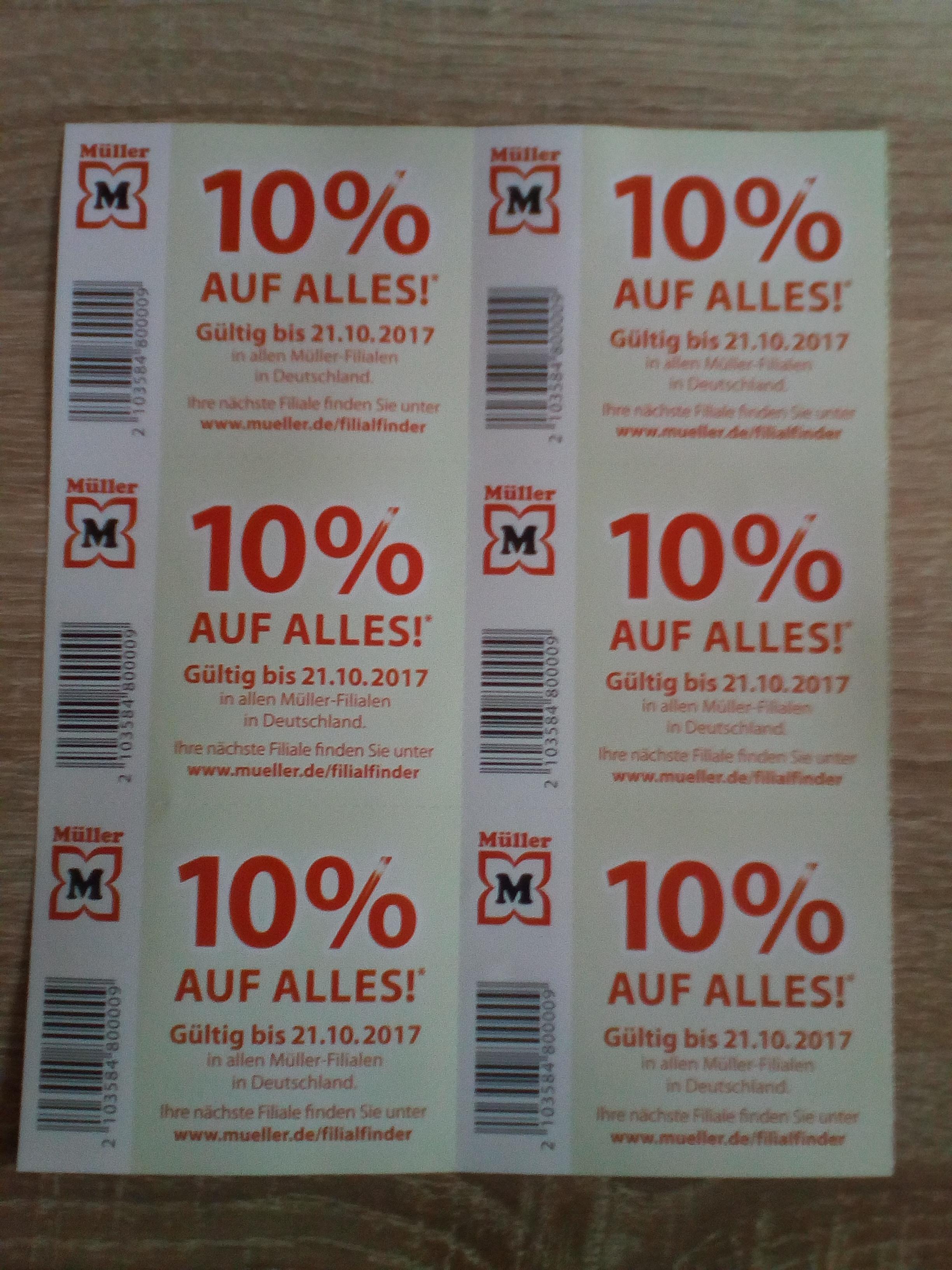 Müller 10% auf alles*