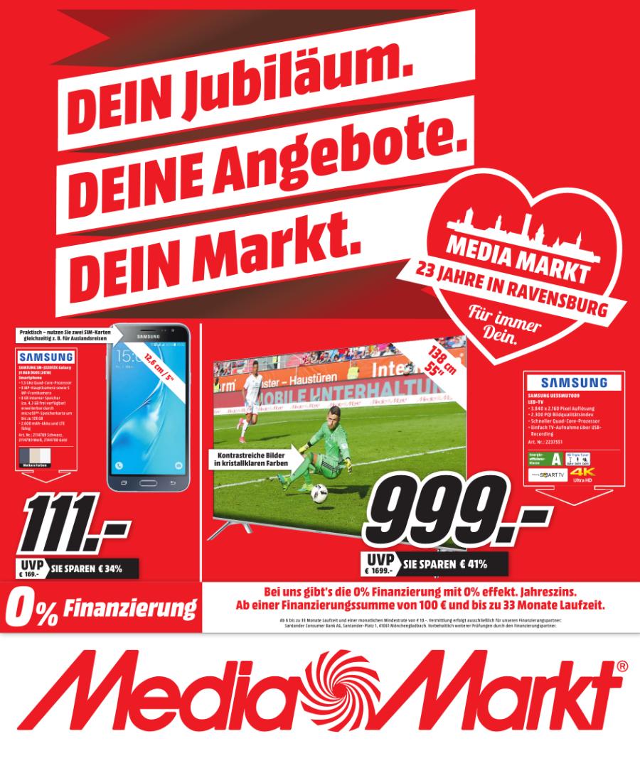 Samsung TV MU7009 138 cm 55 Zoll Fernseher - Media Markt Ravensburg [LOKAL]