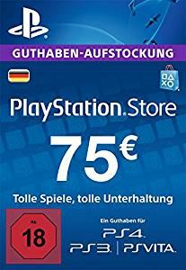 75€ PSN Deutschland Guthaben für ca. 53€ [G2A]