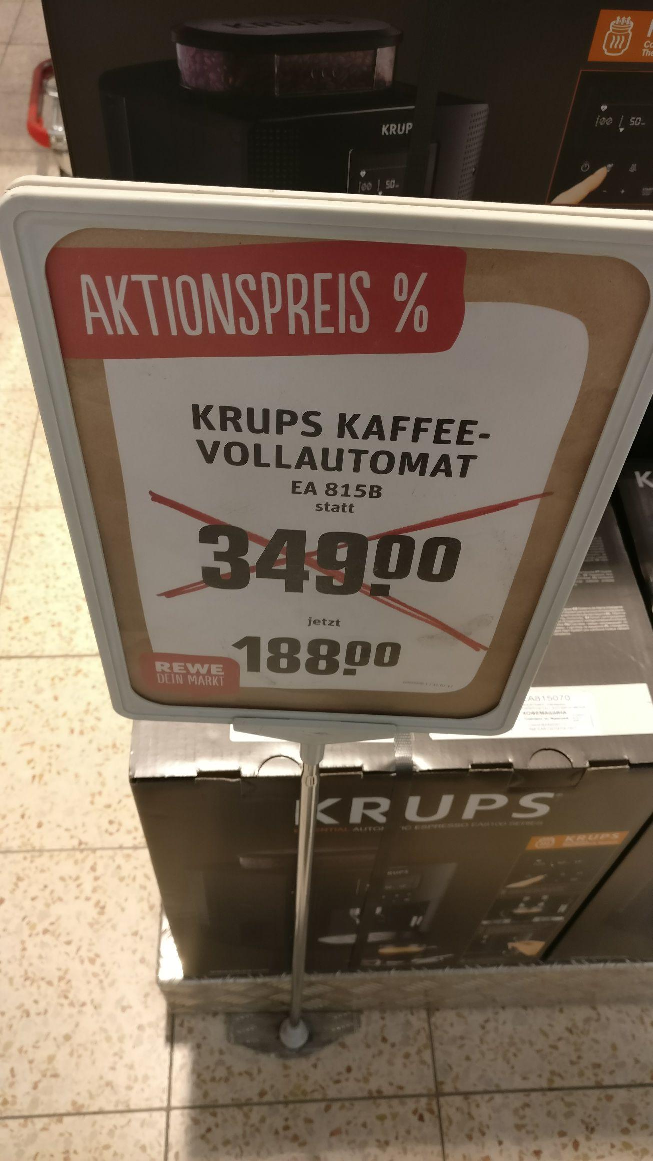 [Lokal 65933 Frankfurt] Krups Kaffeevollautomat EA815B für 188€ statt Idealo 379€