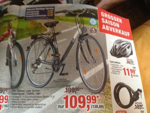 28er Trekking-Fahrrad für 130,89 in der Metro