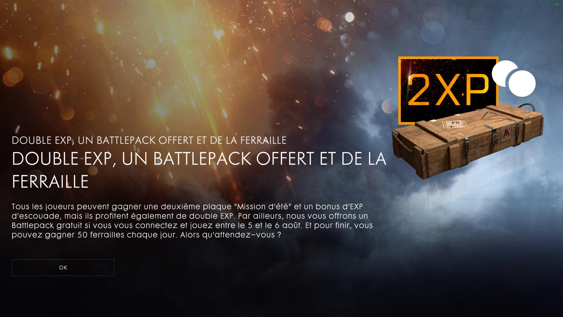 Kostenloses Battlepack + doppelte XP bei [Battlefield 1 & Battlefield 4] vom 05.-06.08.
