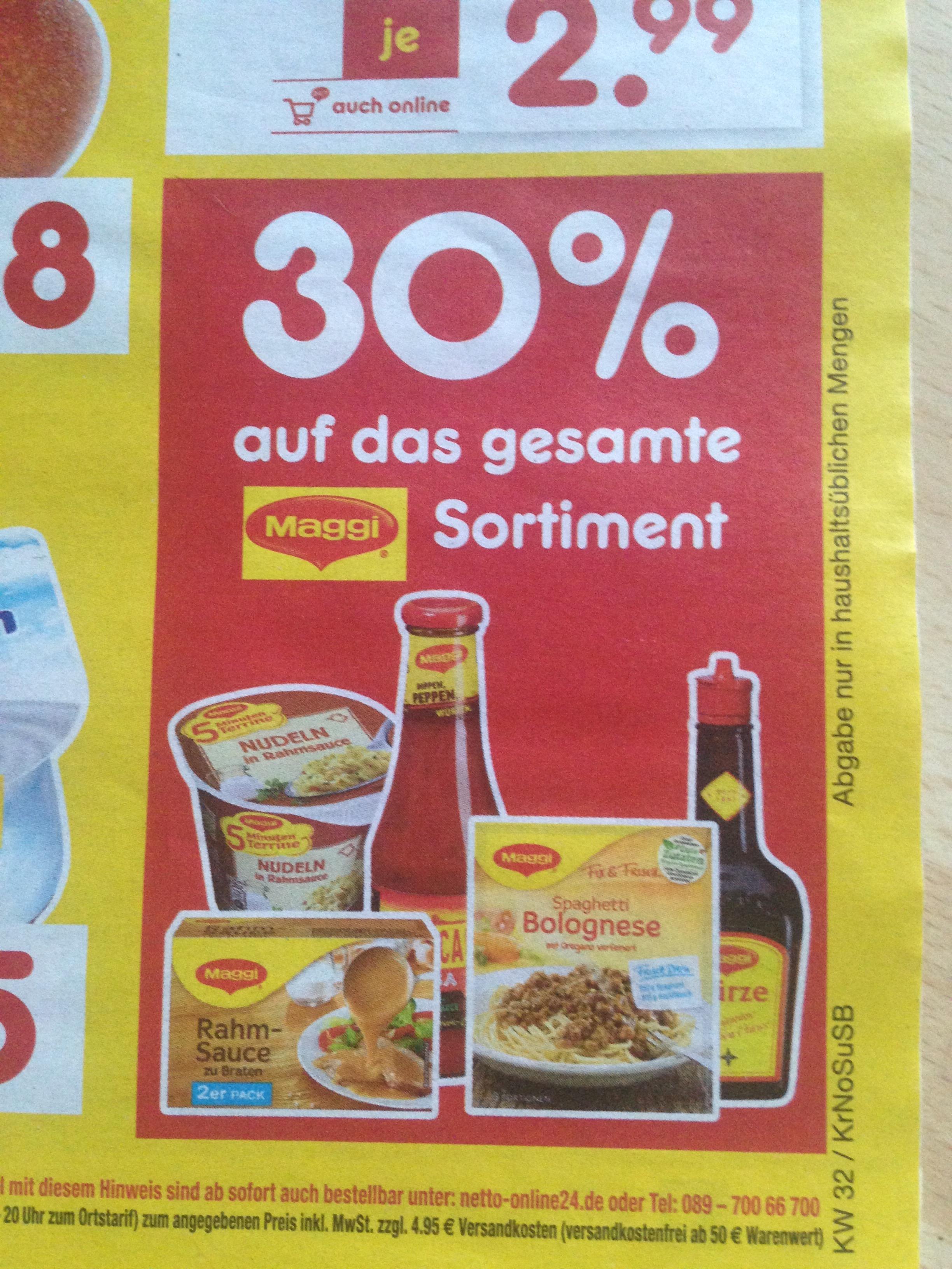 Maggi 30% günstiger bei Netto MD