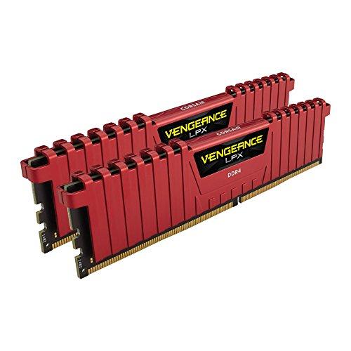 Corsair Vengeance LPX CMK16GX4M2A2400C14R DDR4 Speicherkit (2400 MHz, 2 x 8GB) Rot [Amazon.de]