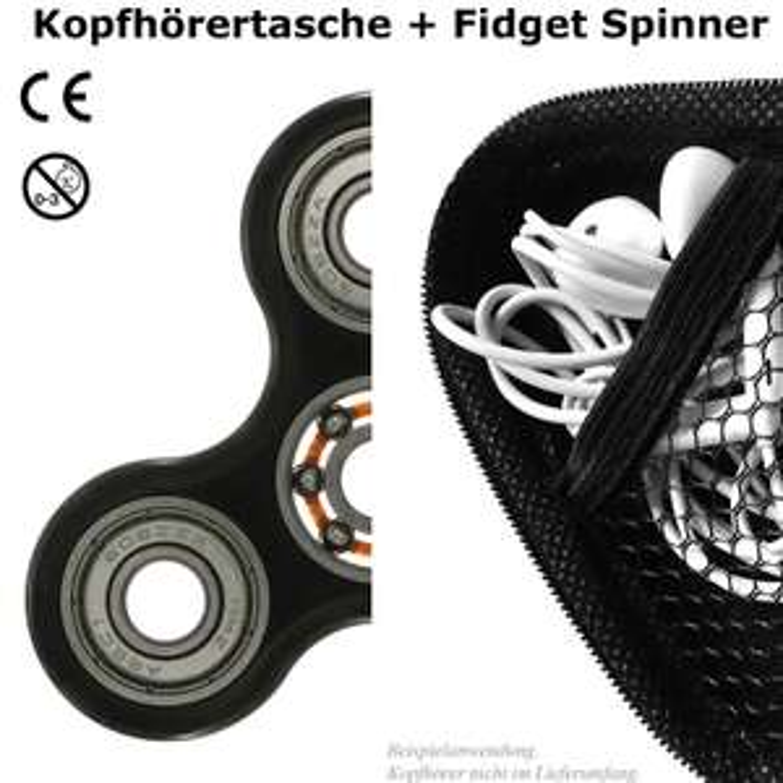 Kopfhörertasche und hochwertiger Fidget Spinner mit CE-Zertifizierung
