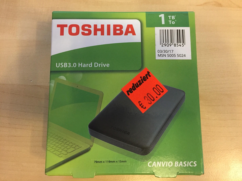 [ALDI Nord lokal - Braunschweig] Toshiba Canvio Basics 1TB USB 3.0 HDD