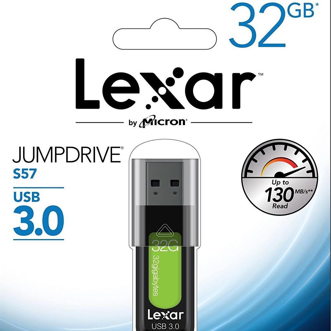 Lexar JumpDrive S57 USB-3.0-Stick mit 32GB für 8€ versandkostenfrei [Mediamarkt]