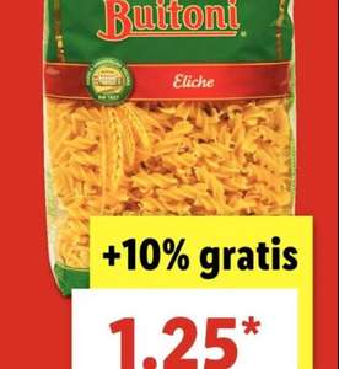 1100g Buitoni-Nudeln bei Lidl für 1,25 €