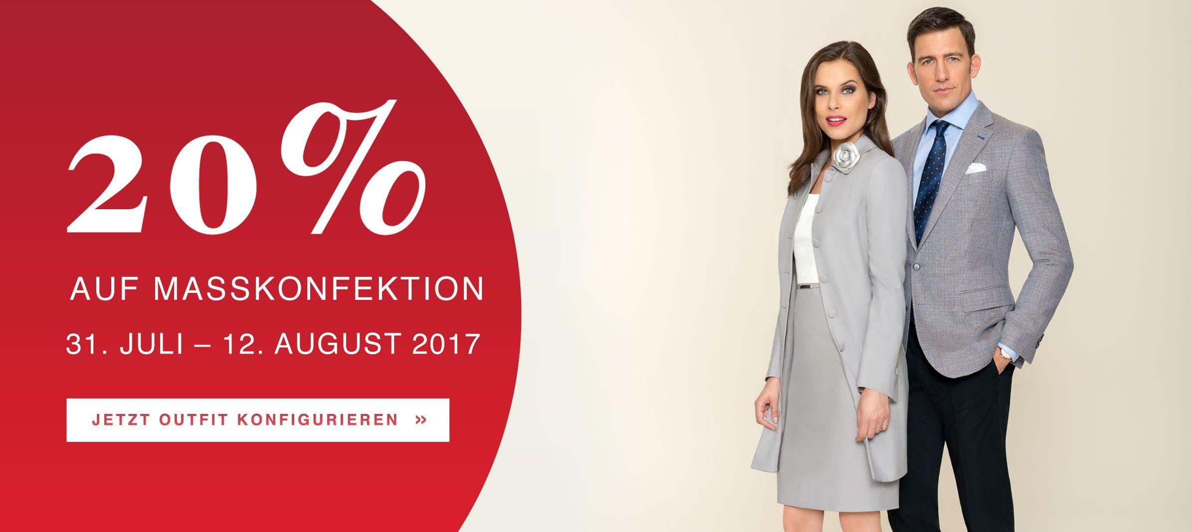 [Dolzer] 20% auf Maßkonfektion -- bis 12. August!