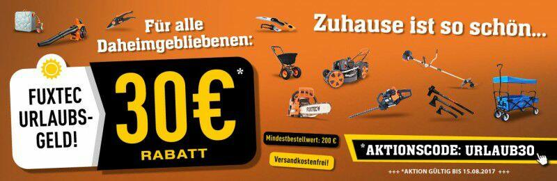 FUXTEC 30 € Rabatt bei 200 € MBW