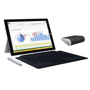 Microsoft Surface 3 Pro i5 128GB inkl. Type Cover, Mouse für 703,99€  im T-Onlineshop anstatt 999€ ca. 30% Ersparnis
