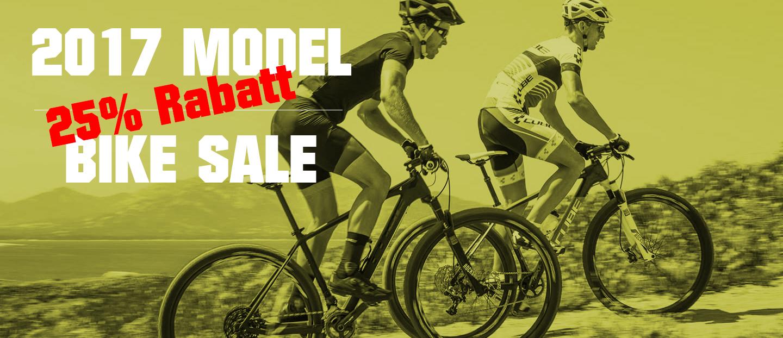 Bis zu 25% Rabatt auf Lagerware für 2017er Modelle bei marcobike.