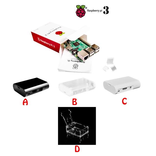 [AliExpress] Raspberry Pi 3 Model B + Gehäuse + 3 Kühlkörper
