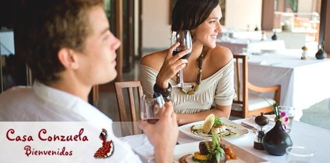 Fashion Spanische Romantik beim Menü für zwei