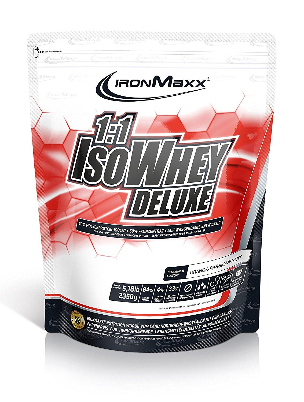 [Amazon] IronMaxx 1:1 IsoWhey Deluxe, Orange-Maracuja, 2.35 kg (ohne Prime evtl. + Vsk)