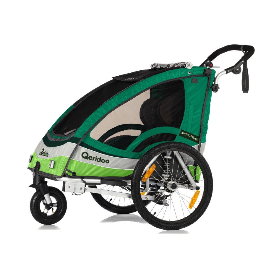 Kinderfahrradanhänger Qeridoo Sportrex 2 (2017er Modell) für 305,99€ in grün bei [babymarkt]
