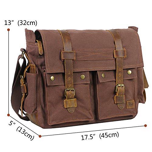 Vintage Messenger Bag 17,3 Zoll
