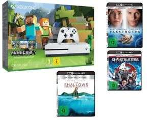 [eBay / Mediamarkt Stuttgart Vaihingen] Microsoft Xbox One S 500GB Konsole - Minecraft Bundle - inkl. 3x Ultra HD Filme