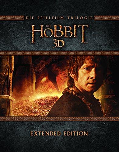 [Amazon Prime] Der Hobbit Trilogie - Extended Edition (Blu-ray 3D + Blu-ray + UV Copy, 15 Discs)