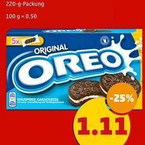 Oreo Kekse - 220g Packung für 1,11€ [Penny]
