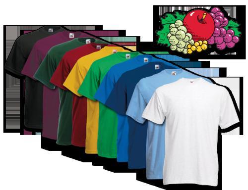 10x FRUIT OF THE LOOM T-Shirts Größe S M L XL XXL XXXL 9 verschiedene Farbsets Gr. S-XXXL & Gr. 104-164  @ebay 21,99€
