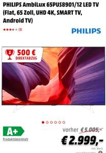 [Mediamarkt]PHILIPS AmbiLux 65PUS8901/12 LED TV (Flat, 65 Zoll, UHD 4K, SMART TV, Android TV)