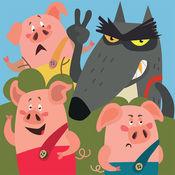 [iOS] Die Abenteuer der drei kleinen Schweinchen kostenlos statt 2,99€
