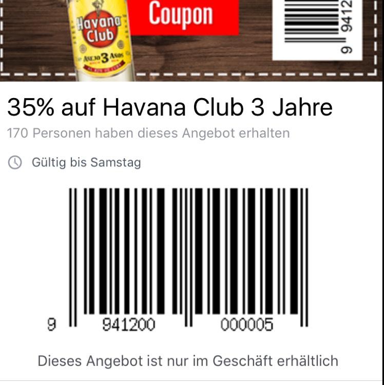 Havana Club 3 Jahre -35% Marktkauf