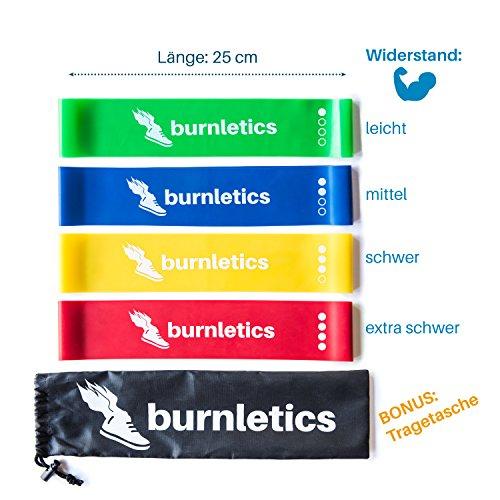 [Amazon.de] burnletics Fitnessbänder 4er Set + Tasche + Anleitung 7,98€ (Prime oder Buchtrick)