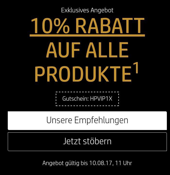 10% Rabatt im HP Store