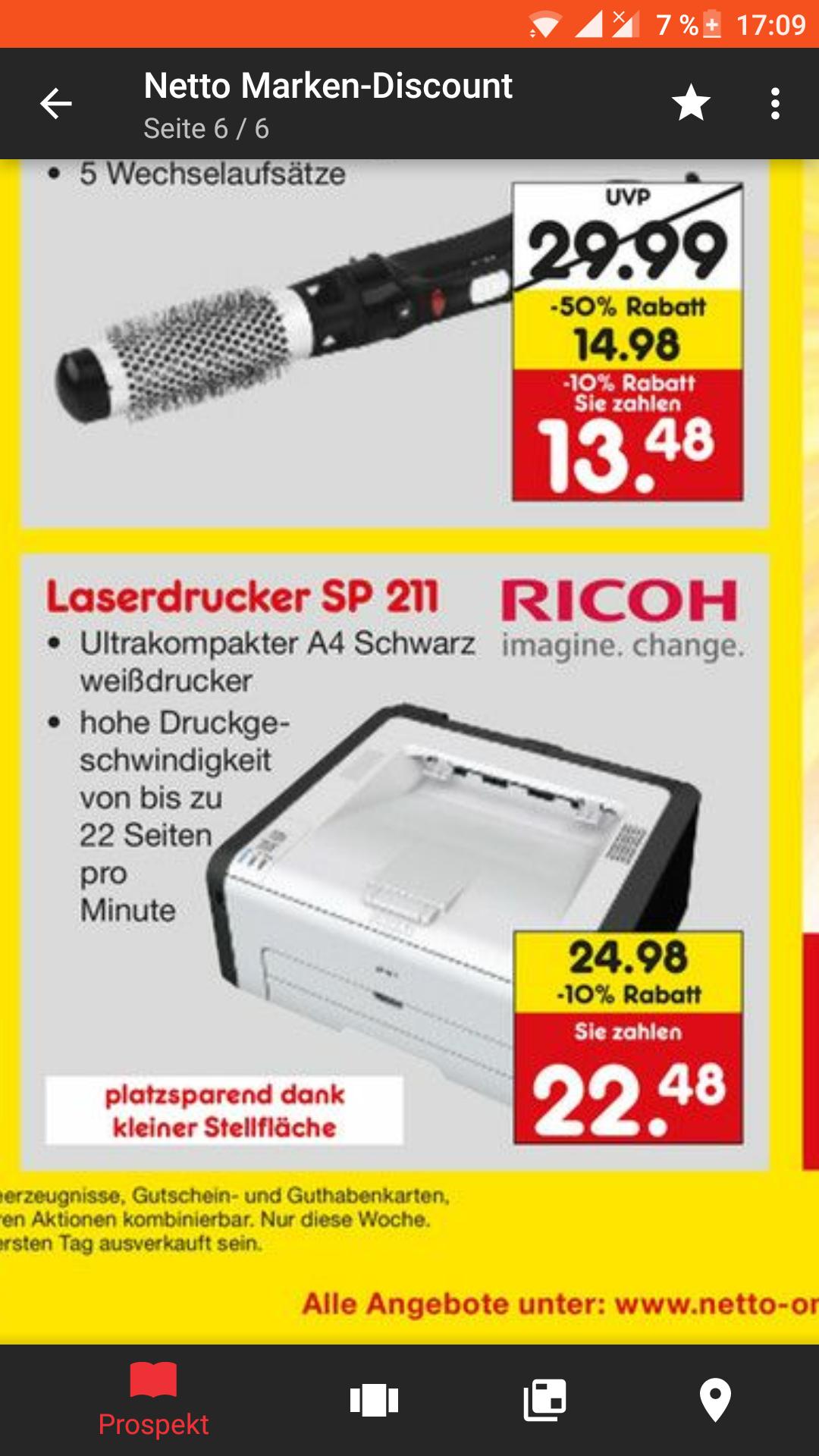 [Netto Marken-Discount] LOKAL: Schwarz-Weiss Laserdrucker für 22,48€