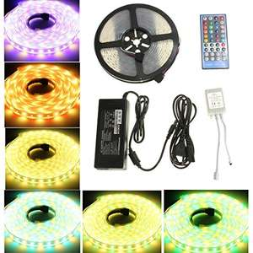 LED Stripes 5m SMD 5050 RGBWW IP67 mit Netzteil und Fernbedienung [AMAZON Prime]