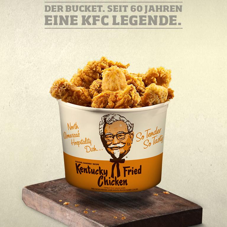 KFC 60 Jahre Birthday Bucket