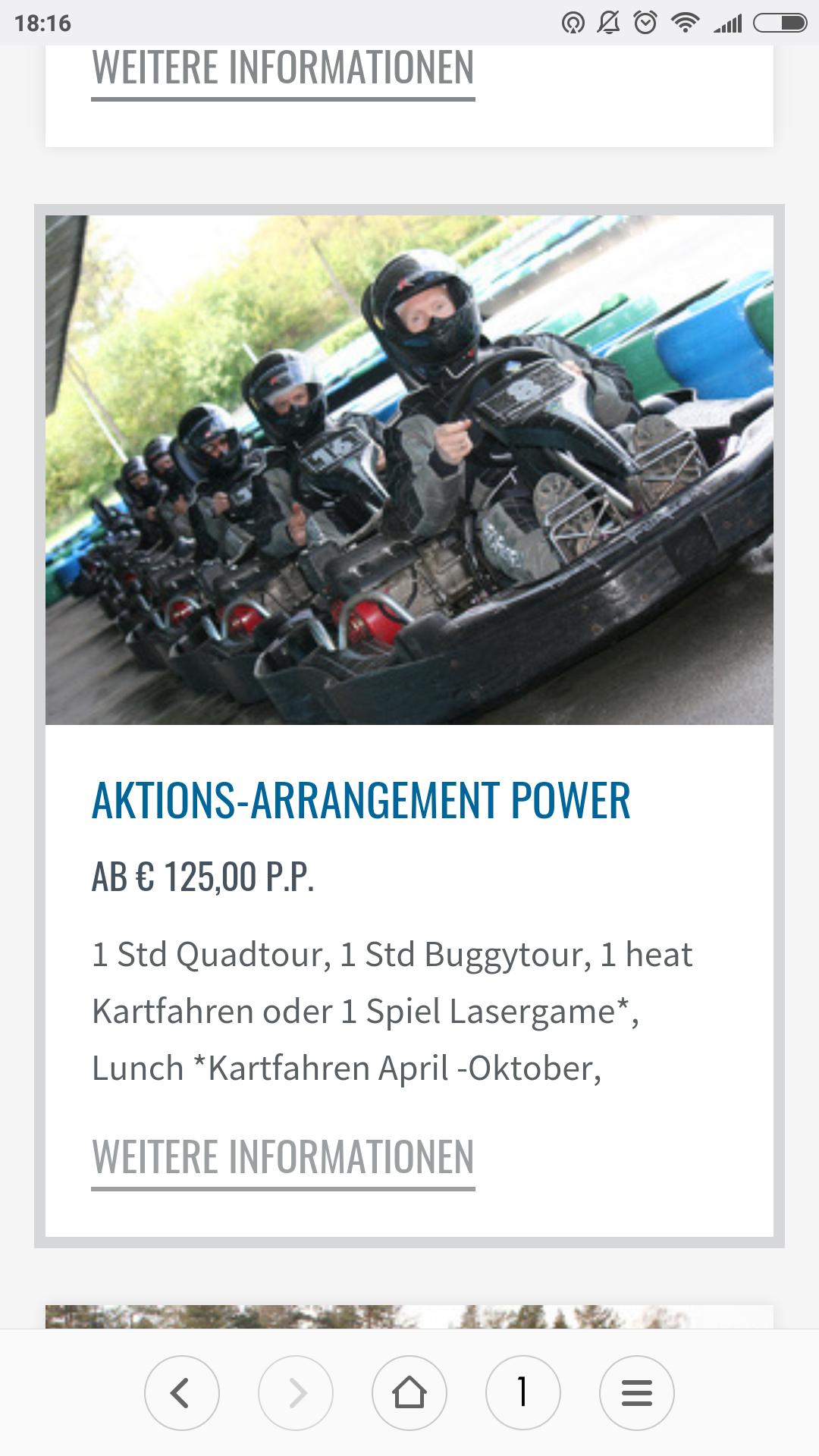 Quadtour, Buggytour, Kart/Lasergame & Lunch [Fursten Forest]