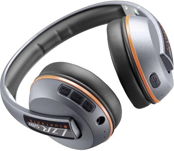 [voelkner] Magnat LZR 588 BT, Bluetooth Kopfhörer, Over Ear Faltbar, Headset Silber, Orange