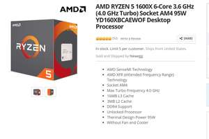 AMD Ryzen 5 1600x AM4