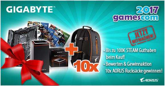 GIGABYTE 20€ Steam-Guthaben Aktion + Mehr